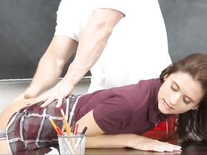 Teen schoolgirl Presley Dawson fucks with teacher