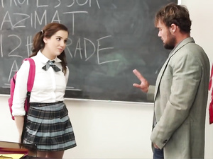 Plump schoolgirl discovers a spoiled whore inside