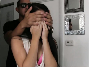 Amusing Latina teen fucks with a tough black stud