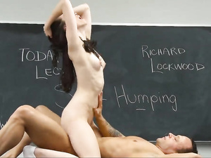 Teen schoolgirl Veronica Radke is jumping on cock