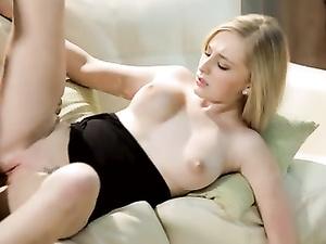 Bosomy blonde Stacie Jaxxx does tits job and fucks