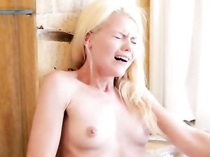 Paula Shy fingers and licks the tight pussy cleft