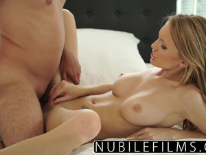 Big dick sticks out of Belle Claire's pussy