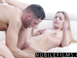 A very cute doll Sydney Cole mouth and pussy fuck