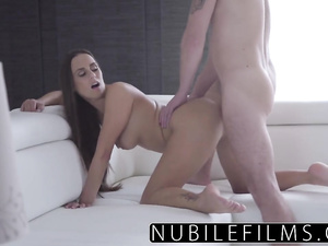 Tattooed girl produces creampie on HD video