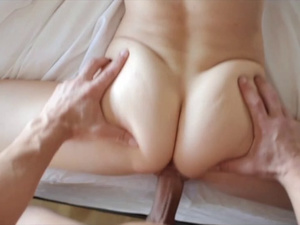 Awesome hot brown haired chick is getting hotly fucked in exciting poses