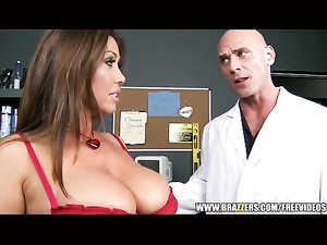 Busty milf Kianna Dior swallows the hard cock