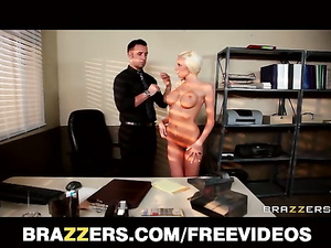 Hot boobed blonde gets seduced for pleasant fuck in office
