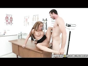 Redhead sexy doctor gets fucked up by patient