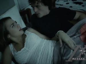 Stepbrother and sister are exciting too hot from watching sex videos