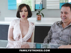 Uncle brought his wife which got fucked hard by handsome young nephew