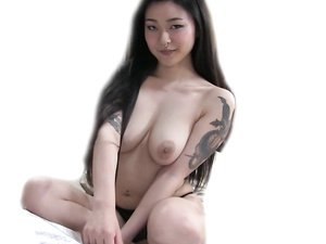Adorable Asian girl loves hardcore sex with big white dick