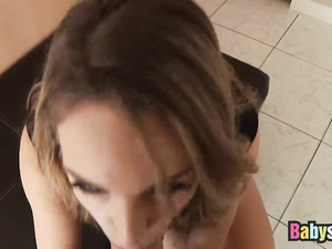 Cute chick shows her blowjob and hardcore fuck skills