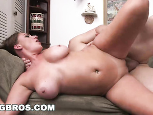Brown haired young chick Skyler Luv hotly undresses and fucks at casting