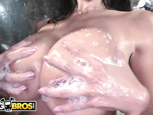 Big boobed brunette Ava Addams loves hardcore fuck in the shower