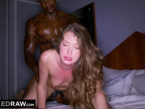 Check out hungry white beauty babes handling tight big black cocks