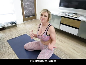 Chubby butted blonde milf titjobs young big dick and gets fucked hard