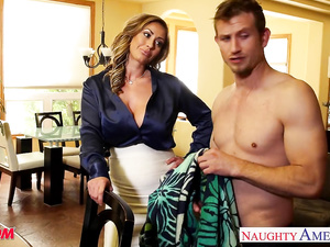 Juicy tight blonde Eva Notty seduces her stepson and enjoys hardcore fuck